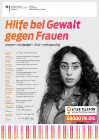 Hilfetelefon für Frauen (mehrsprachig) - (Bundesamt für Familie und zivilgesellschaftliche Aufgaben)