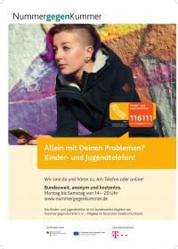 Nummer gegen Kummer - das Kinder- und Jugendtelefon (Bundesministerium für Familie, Senioren, Frauen und Jugend)